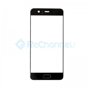 For Huawei P10 Front Glass Lens Replacement - Black - Grade S+