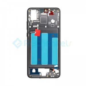 For Huawei P20 Front Housing with Frame Replacement - Black - Grade S+