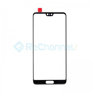 For Huawei P20 Front Glass Lens Replacement - Black - Grade S+