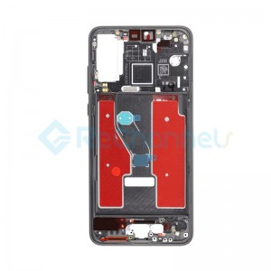 For Huawei P20 Pro Front Housing with Frame Replacement - Black - Grade S+
