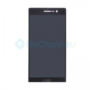 For Huawei P7 LCD Screen and Digitizer Assembly Replacement - Black - Grade S+