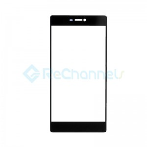 For Huawei P8 Front Glass Lens Replacement - Black - Grade S+