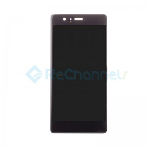 For Huawei P9 LCD Screen and Digitizer Assembly Replacement - Black - Grade S+