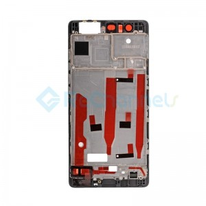 For Huawei P9 Front Housing LCD Frame Bezel Plate Replacement - Black - Grade S+