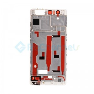 For Huawei P9 Front Housing LCD Frame Bezel Plate Replacement - White - Grade S+