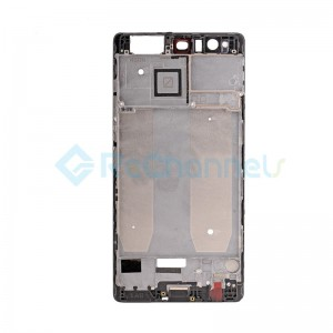 For Huawei P9 Plus Front Housing LCD Frame Bezel Plate Replacement - Black - Grade S+