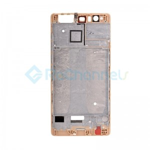 For Huawei P9 Plus Front Housing LCD Frame Bezel Plate Replacement - Gold - Grade S+