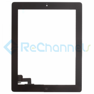 For Apple iPad 2 Digitizer Touch Screen Assembly Replacement - Black - Grade S