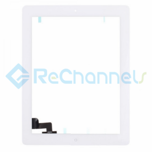 For Apple iPad 2 Digitizer Touch Screen Assembly Replacement - White - Grade S