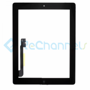 For Apple The New iPad (iPad 3) Digitizer Touch Screen Assembly Replacement - Black - Grade R