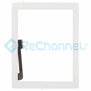 For Apple The New iPad (iPad 3) Digitizer Touch Screen Assembly Replacement - White - Grade R