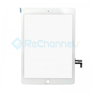 For iPad (5th Gen) Digitizer Touch Screen Assembly Replacement - White - Grade S