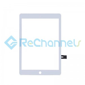For Apple iPad 6 A1893 / A1954 Digitizer Touch Screen Replacement - White - Grade S+