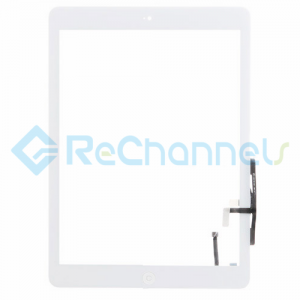 For Apple iPad Air Digitizer Touch Screen Assembly Replacement - White - Grade R