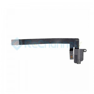 For iPad Air 3 Headphone Jack Flex Cable Replacement (WiFi Version) - Black - Grade S+
