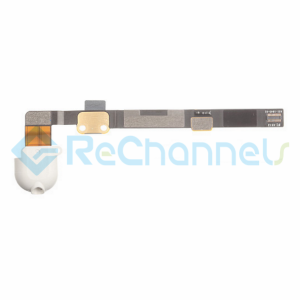 For Apple iPad Mini/Mini 2/Mini 3 Audio Flex Cable Ribbon Replacement - White - Grade S+
