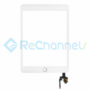 For Apple iPad Mini 3 Digitizer Touch Screen Assembly with IC Board Replacement (Without Home Button) - White - Grade S