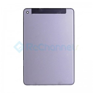 For Apple iPad Mini 4 Rear Housing Replacement (WiFi + Cellular) - Space Gray - Grade S