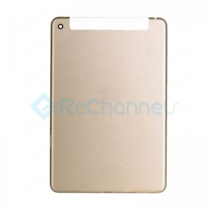 For Apple iPad Mini 4 Rear Housing Replacement (WiFi + Cellular) - Gold - Grade S