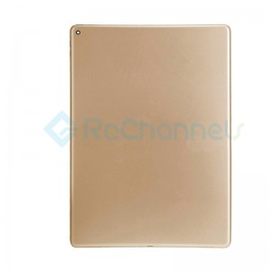 For iPad Pro 12.9 (1st Gen) Rear Housing Replacement (Wi-Fi) - Gold - Grade S