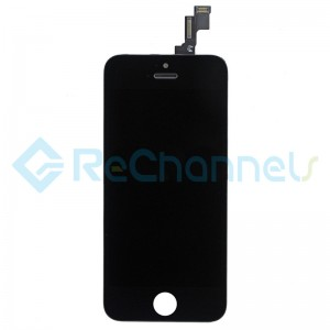 For Apple iPhone SE LCD Screen and Digitizer Assembly with Front Housing Replacement - Black - Grade S+