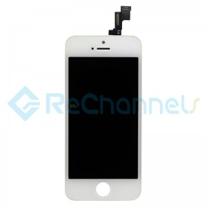 For Apple iPhone SE LCD Screen and Digitizer Assembly with Front Housing Replacement - White - Grade S+