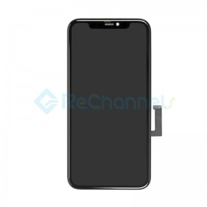 For Apple iPhone 11 LCD Screen and Digitizer Assembly with Frame Replacement - Black - Grade S