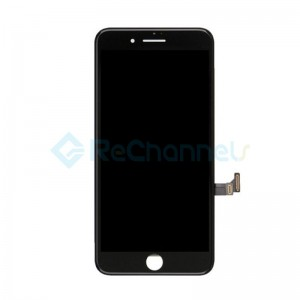 For Apple iPhone 8 LCD Screen and Digitizer Assembly with Frame Replacement - Black - Grade R