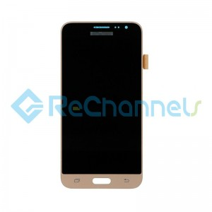 For Samsung Galaxy J3 (2016) SM-J320F LCD Screen and Digitizer Assembly Replacement - Gold - Grade S