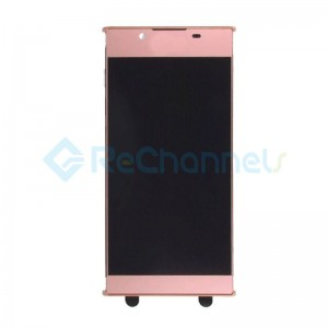For Sony Xperia L1 LCD Screen and Digitizer Assembly Replacement  with Front Housing - Pink -  Grade S