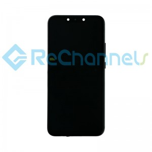 For Huawei Mate 20 Lite LCD Screen and Digitizer Assembly with Front Housing Replacement - Black - Grade S+