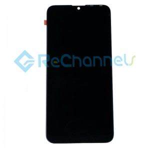 For Huawei Y7 2019 LCD Screen and Digitizer Assembly with Front Housing Replacement - Black - Grade R