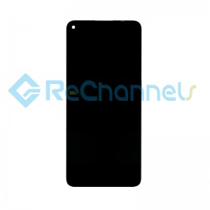 For Huawei P40 Lite 5G LCD Screen and Digitizer Assembly with Front Housing Replacement - Black - Grade S+