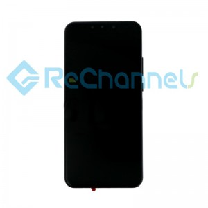 For Huawei Nova 3 LCD Screen and Digitizer Assembly with Front Housing Replacement - Black - Grade S+