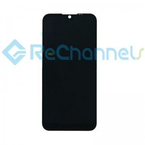 For Huawei Honor 8s LCD Screen and Digitizer Assembly with Front Housing Replacement - Black - Grade S+
