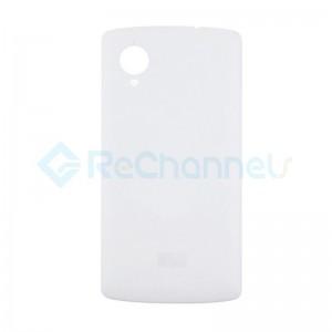 For LG Nexus 5 D821 Battery Door Replacement - White - Grade S+