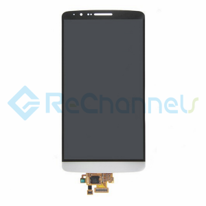 For LG G3LCD Screen and Digitizer Assembly Replacement - White- Grade S+