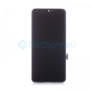 For LG G7 ThinQ LCD Screen and Digitizer Assembly with Front Housing Replacement - Blue - Grade S+