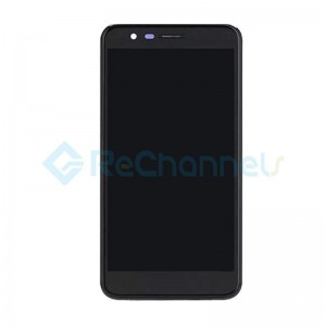 For LG K10 2018 LCD Screen and Digitizer Assembly with Front housing Replacement - Black - Grade S+