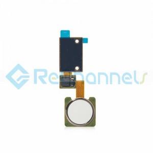 For LG V10 Finger Print Sensor Flex Cable Ribbon Replacement - White - Grade S+