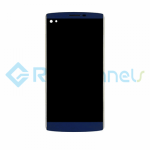 For LG V10 LCD Screen and Digitizer Assembly with Front Housing Replacement - Blue - Grade S+