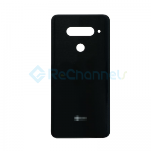 For LG V40 ThinQ Battery Door Replacement - Black - Grade S+