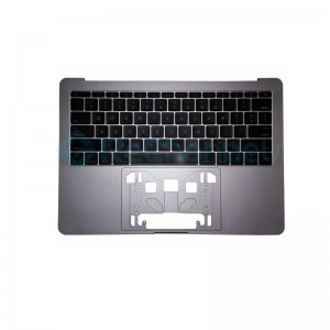 "For MacBook Pro 13"" A1708 (Late 2016 - Mid 2017) Top Case + Keyboard (US English) Replacement - Space Gray - Grade S+"