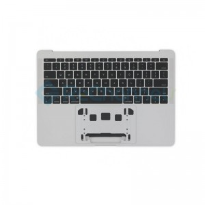 "For MacBook Pro 13"" A1708 (Late 2016 - Mid 2017) Top Case + Keyboard (US English) Replacement - Silver - Grade S+"