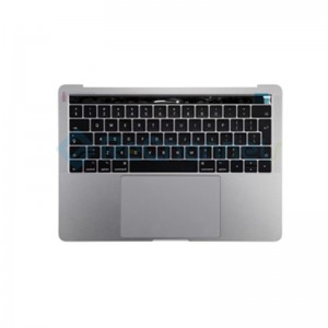 "For MacBook Pro 13"" A1708 (Late 2016 - Mid 2017) Top Case + Keyboard (British English) Replacement - Space Gray - Grade S+"