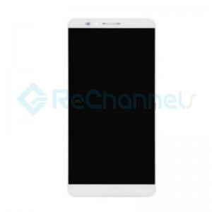 For Huawei Ascend Mate 7 LCD Screen and Digitizer Assembly with Front Housing Replacement - White - Grade S+