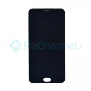 For MEIZU M2 Note LCD Screen and Digitizer Assembly with Front Housing Replacement - Black - Grade S+
