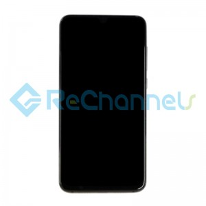 For Xiaomi Mi 9 LCD Screen and Digitizer Assembly with Front Housing Replacement - Black - Grade S+