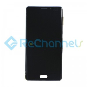For Xiaomi Mi Note 2 LCD Screen and Digitizer Assembly with Front Housing Replacement - Black - Grade S+