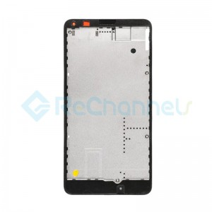 For Microsoft Lumia 640 LTE Dual SIM Front Housing Replacement - Black - Grade S+